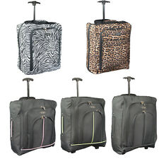LIGHTWEIGHT WHEELED HAND LUGGAGE TROLLEY CABIN BAG SUITCASE EASY JET 50x40x20cm