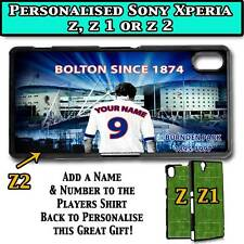PERSONALISED UNOFFICIAL BOLTON WANDERERS SONY XPERIA Z, Z 1, Z 2 HARD CASE