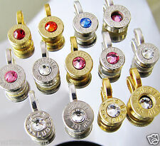 BULLET PENDANT Your CHOICE Silver Nickel Gold 357 Magnum Winchester Set Earrings