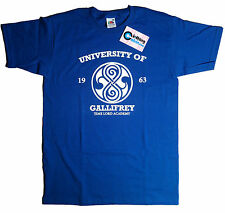 Dr Who Gallifrey University 1963 Time Lord Academy T Shirt Royal Blue The Doctor