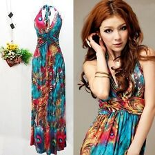 Summer Boho Maxi Sexy V-Neck Women Evening Long Party Beach Dress