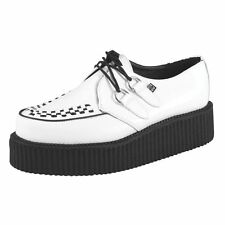 T.U.K. Shoes Mondo Hi Sole Brothel Creeper White Leather