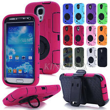 Dual Layers Heavy Duty Rugged Combo Ring Pull-tab Stand Case For Samsung S Note