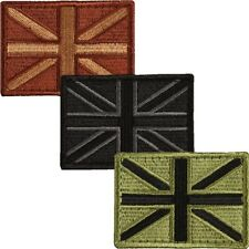 UNION JACK VELCRO PATCH TRF BADGE BRITISH ARMY FABRIC AIRSOFT PAINTBALLING BIKER