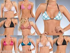 Lot Bikini Bra Top Tie String Triangle Dancer Gogo stripper Sexy Rave S M L