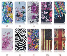 Folio Blossom Designer Flip Leather Wallet Case Cover For Samsung iPhone Sony