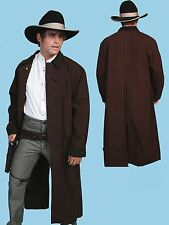OLD WEST CLOTHING  SCULLY  CLASSIC CANVAS DUSTER -WALNUT,NATURAL,BLACK,BROWN