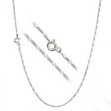Pure 925 Sterling Silver 1.5mm Thin Italian Figaro Link Chain Necklace ALL SIZES