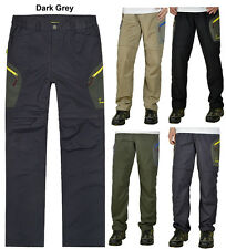 Mens Outdoor Hiking Fishing Wicking Cargo Convertible Pants Trousers Shorts