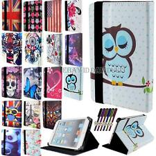 "Universal De 7 ""a 8,0"" Folio De Cuero Soporte Funda Para Apple Android Tablet Pc"