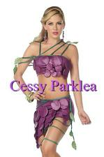 Sexy Purple Grapes Food Fruit Halloween Costume Hens Night Fancy Dress Up