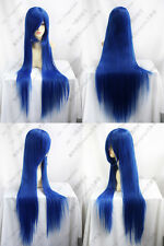New Long Blue Straight Hairs Wig 100CM Long Cosplay Wigs VOCALOID Free Shipping