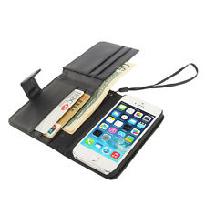 Litchi Texture Leather Case with Wallet & Lanyard for iPhone 5 & 5S