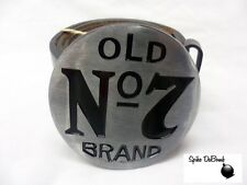 COOL GREY ROUND JACK DANIELS 'OLD NO7 BRAND' BUCKLE WITH BELT *BRAND NEW*
