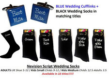 Nevision BLUE Cufflinks + Socks Set. GROOM, BEST MAN, USHER ETC - WEDDING SET