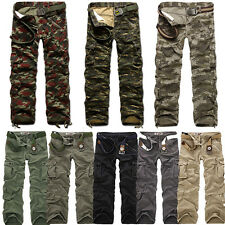NEW Combat Men's Cotton Military Camouflage Cargo Pants ARMY Camo Work trousers