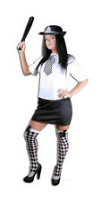 Ladies Sexy Police Officer Inspector Fancy Dress Costume Full Plus Size 8-16