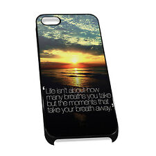 Cover for iPhone 4/5 Case #448 Life isnt about how many breaths you take but the