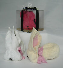Flannel Rabbit. 100% Cotton Washcloth/Facecloth/Towel Bunny . Sock Cupcake Gift