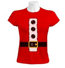 Santa Claus Costume Women T-Shirt Father Christmas Outfit Gift Idea Merry Xmas