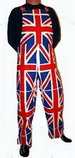 Union Jack Dungarees 100% Cotton Patriotic UK Flag All Over all sizes S - XXXXL