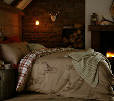 Stag duvet set. Choose single double or king size