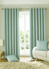 eyelet curtains ready made ring top. solitaire duck egg