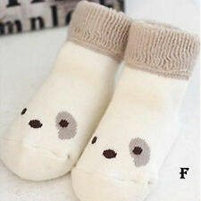 Autumn 0-4Y New Cute Kid Baby Cartoon Cotton Tube Socks Warm Turn Down Socks