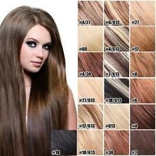 "Extensions De Cheveux Naturels A Clips Remy 100% Real Hair Straight 15""-28"""
