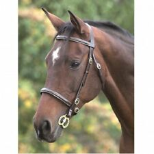 Shires Equestrian Fancy Stitched In Hand Bridle Havana