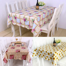 Pretty Printed design PVC Waterproof Oil Table Cloth heat insulation Table Cover