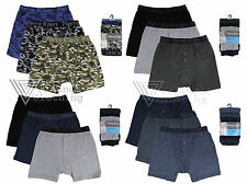 Mens 3 Pack Boxer Shorts Trunks Underwear Cotton Rich Small Medium Large XLarge