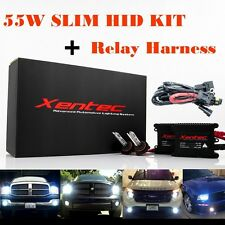 55W 55Watt Xentec Super Slim Xenon HID KIT Conversion + Relay Harness H4 H13 880