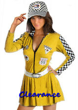 Sexy Miss Indy Super Car Racer Racing Sport Fancy Dress Halloween Costume