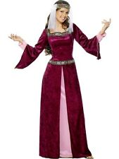 ADULT WOMENS MAID MARION COSTUME SMIFFYS ROBIN HOOD  FANCY DRESS - 5 SIZES