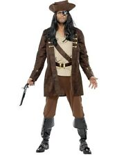 ADULT MENS BUCCANEER CARIBBEAN COSTUME SMIFFYS PIRATE FANCY DRESS - 2 SIZES