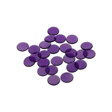 Playing Chips - 16 mm - Purple - Transparent