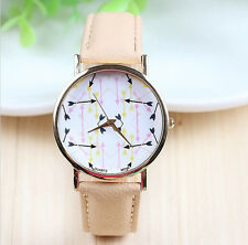New Leather GENEVA Watches Love of Arrow watches For Women Dress Watch L2