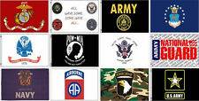 MILITARY FLAGS 3X 5FT ARMY, NAVY, MARINE, AIRBORNE, COAST & NATIONAL GUARD, POW