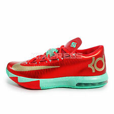 Nike KD VI [599424-601] Basketball Christmas Pack Lite Crimson/Gold-Green Glow