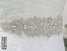 stock rhinestone beaded crystal Rhinestones belt bridal wedding dress sash belt