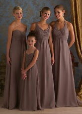 New Chiffon Sleeveless Bridesmaid Evening Party Formal 4 Style Dress Size 6 -16