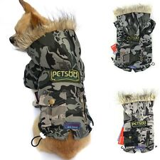 Pet Warm Cotton Winter Coat Camouflage Cat Dog Puppy Padded Coat Clothes Jacket