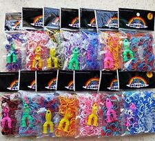 HOT Rainbow Loom Kit Simple Package 600 Rubber Bands+Y Shelf+S Button DIY Gifts