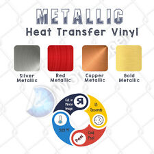 "Heat Transfer Vinyl SiSer  METALLIC 20"" x 10 FT Mirror Effect :)"
