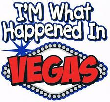 I'M WHAT HAPPENED IN VEGAS Pink Lap Shoulder Creeper Newborn To 24 Months