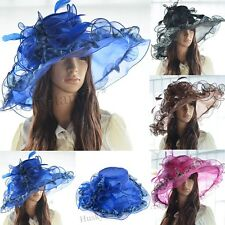 Kentucky church wedding derby hat wide brim floral leopard formal dress Hat