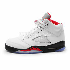 Nike Air Jordan 5 Retro GS [440888-100] Basketball White/Fire Red-Black