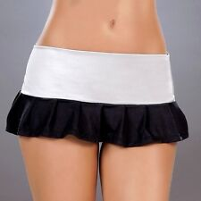 New 5017 Silver Metallic PLEATED DANCE ROLLER MICRO MINI Short SKIRT RAVE S M L