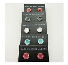 New Classical Free shipping  MARC BY M JACOBS  Letters Disc Earrings 10 color